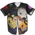 Amazing Obito Uchiha With Tobi Masks Black MLB Baseball Shirt