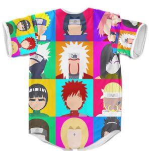 Naruto Shippuden Characters Flat Design MLB Baseball Shirt