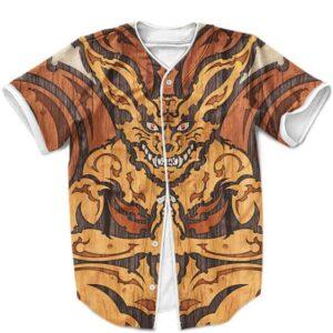 Kurama The Nine Tails Beast Vintage Japanese Art Baseball Shirt