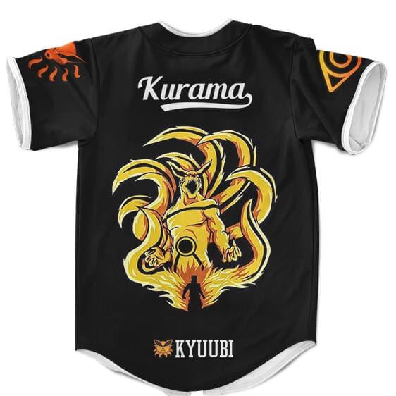 BSJ294 - Amazing Kurama The Nine Tails In Sage Mode Black Baseball Uniform - back