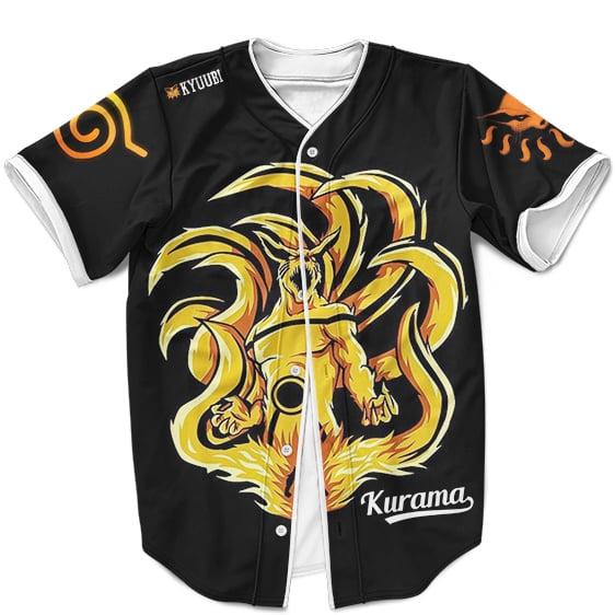 Amazing Kurama The Nine Tails In Sage Mode Black Baseball Uniform