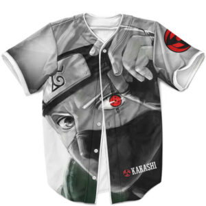 Amazing Hatake Kakashi Sharingan Black and White Baseball Jersey