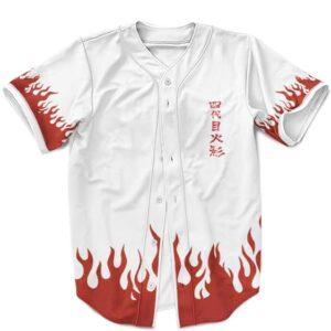 Fourth Hokage Coat Cosplay Pattern Minato Namikaze Baseball Shirt