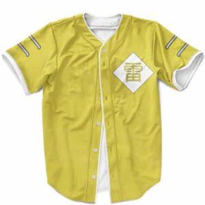 Kumogakure Raikage Symbol Cosplay Yellow MLB Baseball Jersey