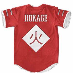 Konohagakure Hokage Symbol Cosplay Red MLB Baseball Shirt