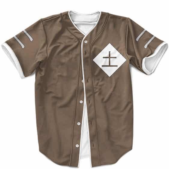 Iwagakure Tsuchikage Symbol Cosplay Brown MLB Baseball Uniform