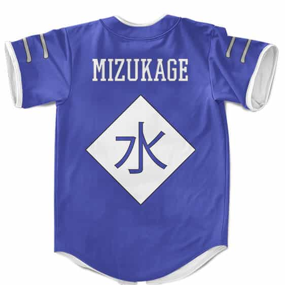 Kirigakure Mizukage Symbol Cosplay Blue MLB Baseball Jersey