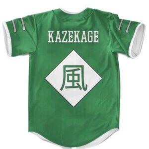 Sunagakure Kazekage Symbol Cosplay Green MLB Baseball Shirt