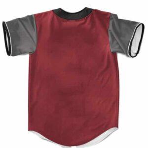 Jiraiya The Pervy Sage Cosplay Costume Red Maroon Baseball Shirt