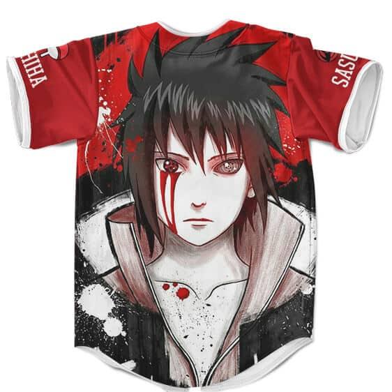 Amazing Sasuke Uchiha Amaterasu And Rinnegan Red Baseball Uniform