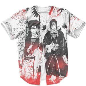 Dope Itachi Uchiha Japanese Artwork Black & White Baseball Uniform