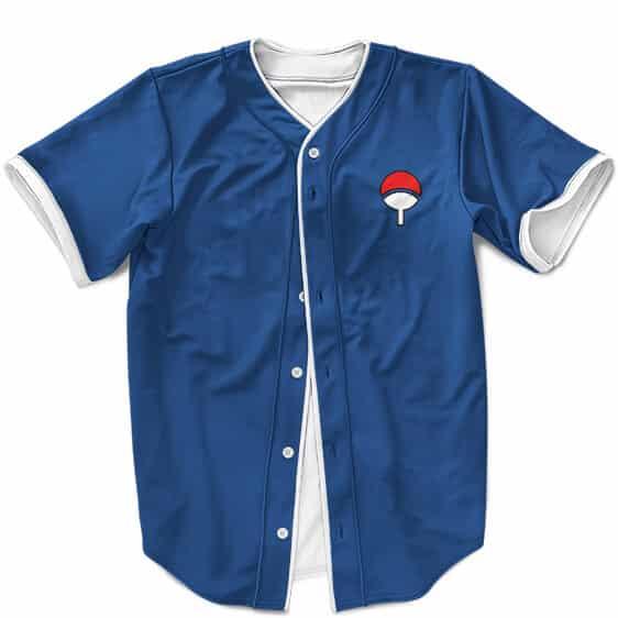 Young Sasuke Uchiha Minimalist Cosplay Costume Baseball Jersey