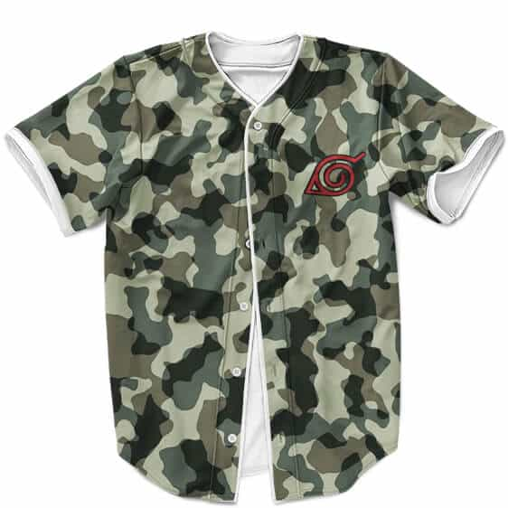 Konoha Uzumaki Clan Logo Camouflage MLB Baseball Uniform