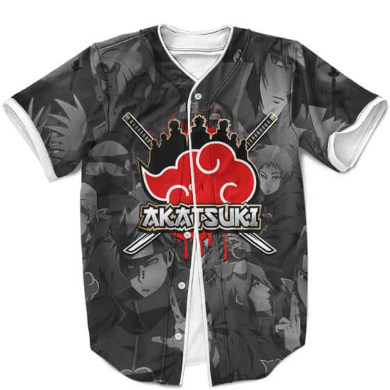 Akatsuki Members Pop Culture Art Design Gray Baseball Shirt
