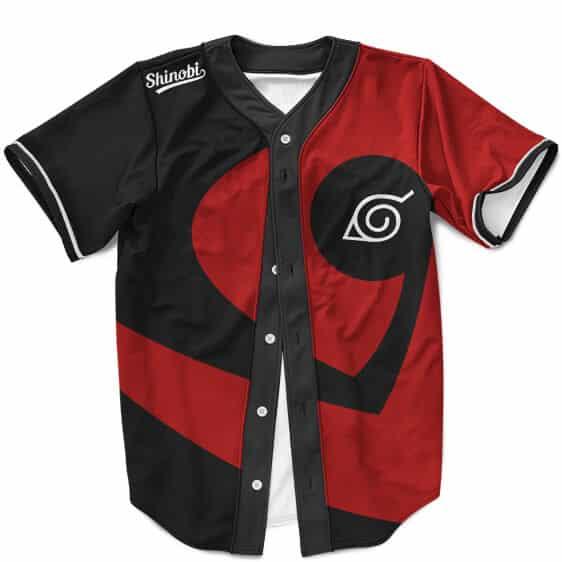 Amazing Konoha Shinobi Red MLB Baseball Uniform