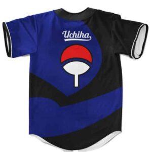 Awesome Uchiha Shinobi Sharingan Blue MLB Baseball Jersey