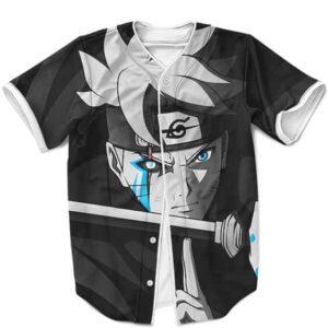Boruto Uzumaki Jougan Dojutsu Black & White Baseball Jersey