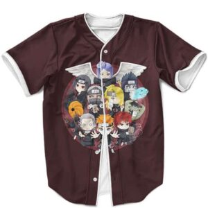 Adorable Akatsuki Chibi Art Design Brown Baseball Uniform