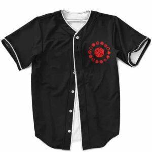 Awesome Sharingan Forms Minimalist Black Baseball Jersey