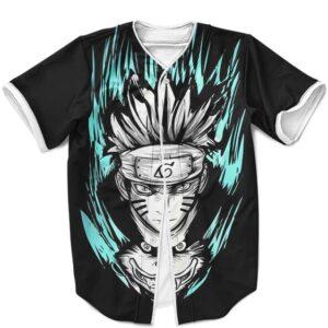 Naruto Uzumaki And Kurama Sage Mode Vector Art Baseball Shirt