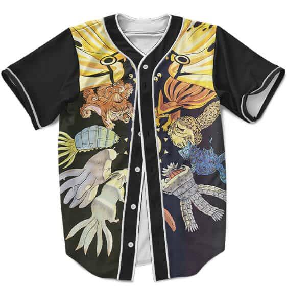 Baseball Jersey Naruto With 9 Chibi Jinchuriki Kurama Mode