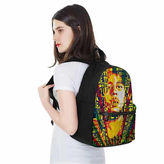 Bob Marley Pop Art Song Lyric Rasta Background Cool Backpack