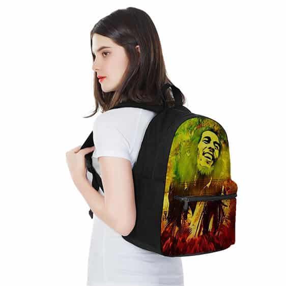 Bob Marley Rastafarian 420 Colorful Coolest Dopest Backpack