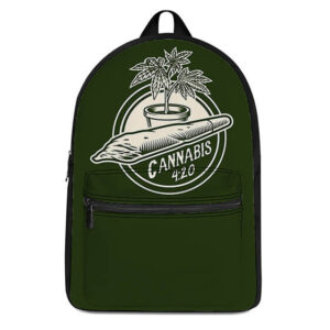 Cannabis 420 Weed Plant Icon Coolest Most Awesome Backpack