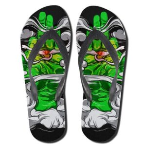 Cannabis Art Buddha's Hand Holding A Joint 420 Slippers