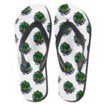 Cannabis Chill With Me Icon Pattern 420 Flip Flops
