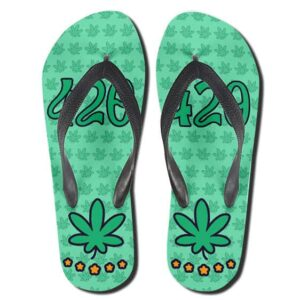 Cannabis Happy High Time 420 Dope Flip Flops Slippers