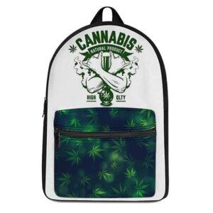 Cannabis High-Quality Bong Logo Dope Weed Backpack