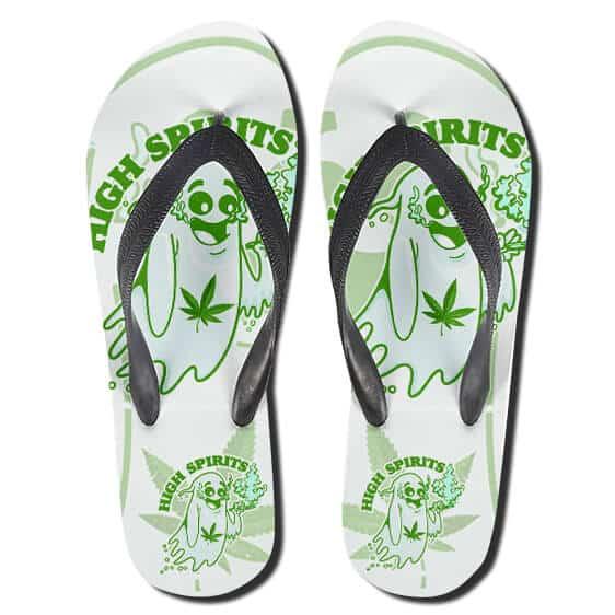 Cannabis High Spirit Smoking Weeds 420 Flip Flops Sandals