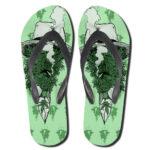 Cannabis Kush Human Face Art Smoking Weed Thong Sandals