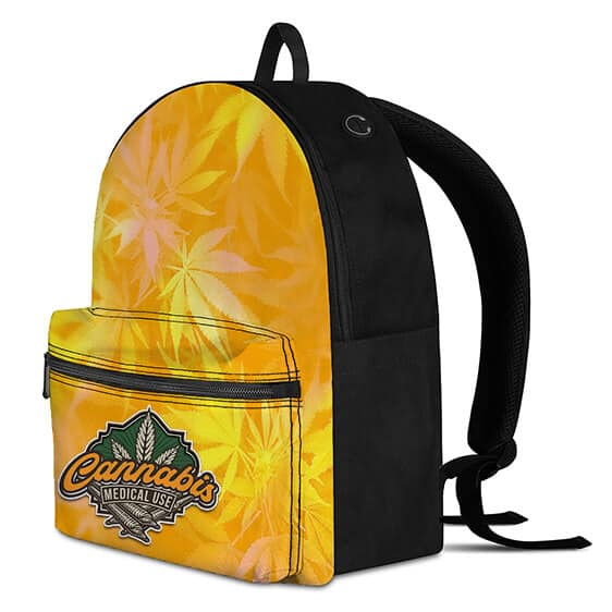 Cannabis Medical Use Weed and Hemp Background Cool Backpack