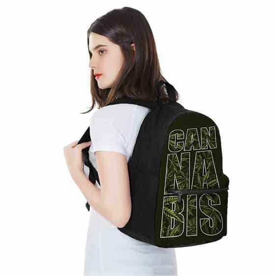 Cannabis Text Weed Pattern Most Awesome and Coolest Backpack