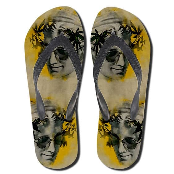 Cannabis Weed Crown High 420 Yellow Flip Flops Slippers