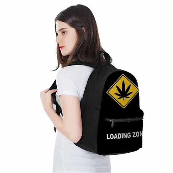 Cannabis Yellow Logo Loading Zone Black 420 Rucksack