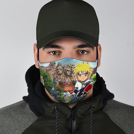Hidden Leaf Hokage Chibi Minato Cute Naruto Cloth Face Mask
