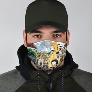 Chibi Naruto Kurama Form Helping Sasuke Cute Cloth Face Mask