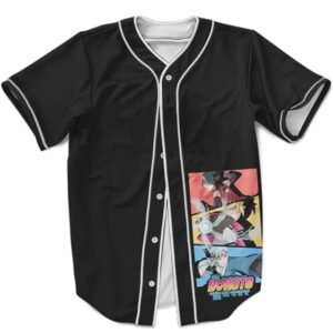 Cool Boruto Sadara Mitsuki Black MLB Baseball Jersey Team 7