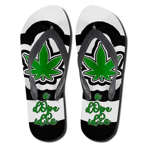 Cool Cannabis A Dope Idea Hemp Flip Flops Slippers