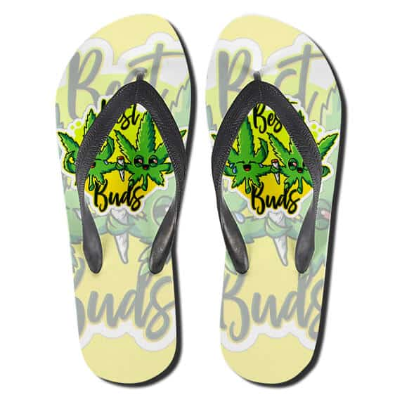 Cool Marijuana Best Buds Hemp 420 Flip Flops Slippers