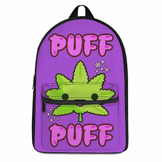 Cute Cannabis Puff Puff Violet Coolest and Dopest Backpack