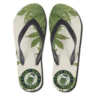 Don't Panic It's Organic Bottled Weed Logo 420 Slippers