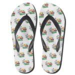 Don't Panic It's Organic Smoking Weed 420 Thong Sandals
