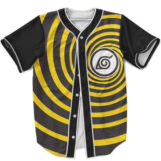 Dope MLB Baseball Jersey Konoha Namikaze Minato Yellow Swirl