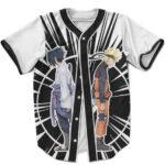 Dope MLB Baseball Jersey Naruto Versus Sasuke Clash Of Fist