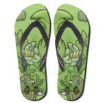 Dope Rasta Weed Art Smoking Joint Flip Flops Slippers