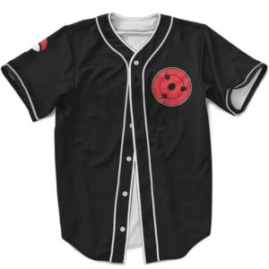 Dope Uchiha Clan Themed MLB Baseball Shirt Sharingan Black